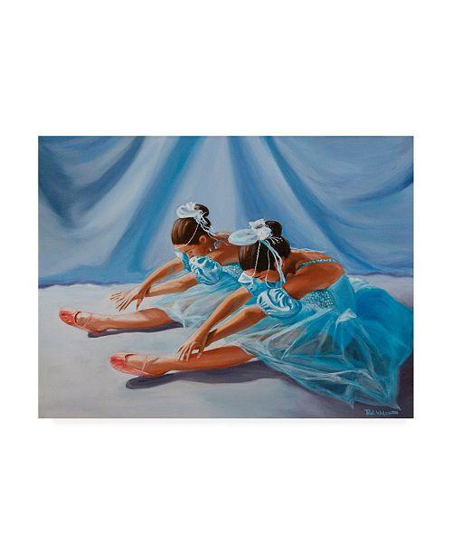 """Trademark Global Paul Walsh Ballet Blue Canvas Art - 27"""" x 33.5"""""""
