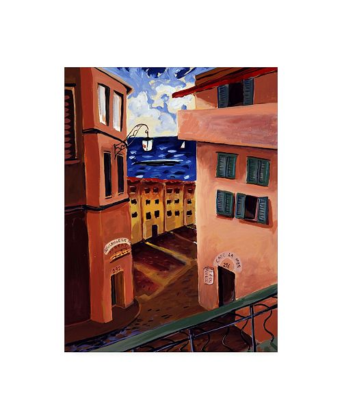 "Trademark Global Patricia A. Reed Cafe La Mer Canvas Art - 15.5"" x 21"""
