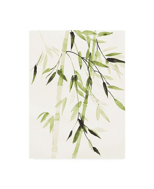"""Trademark Global Danhui Nai Bamboo Leaves V Green Canvas Art - 15.5"""" x 21"""""""