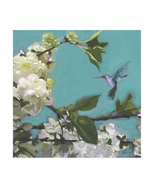 """Trademark Global Rick Novak Hummingbird Florals I Canvas Art - 36.5"""" x 48"""""""