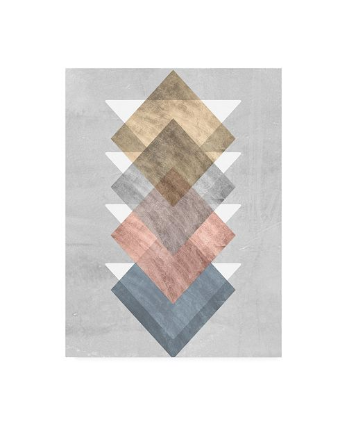 "Trademark Global Jennifer Goldberger Diamond Align I Canvas Art - 36.5"" x 48"""
