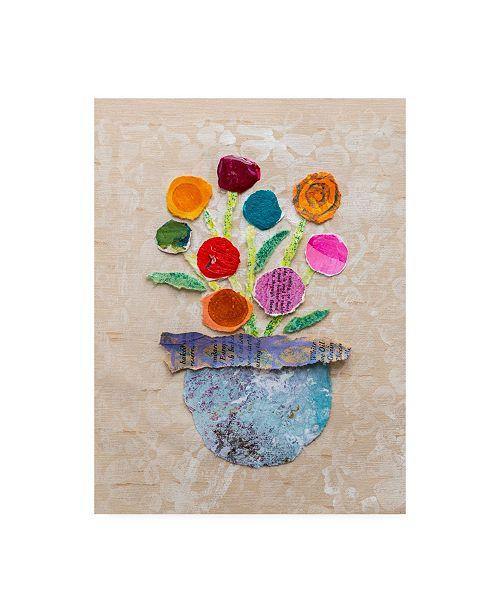 "Trademark Global Elizabeth St. Hilaire Flower Pot IV Canvas Art - 19.5"" x 26"""