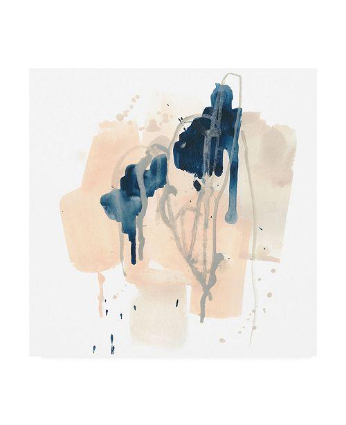 """Trademark Global June Erica Vess Azurite II Canvas Art - 15.5"""" x 21"""""""