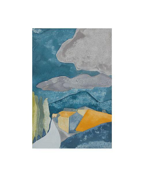 "Trademark Global Rob Delamater French Village I Canvas Art - 36.5"" x 48"""