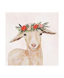 "Victoria Borges Garden Goat I Canvas Art - 15.5"" x 21"""