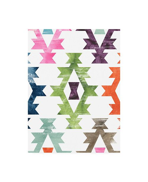"""Trademark Global June Erica Vess Aztec Brights II Canvas Art - 19.5"""" x 26"""""""