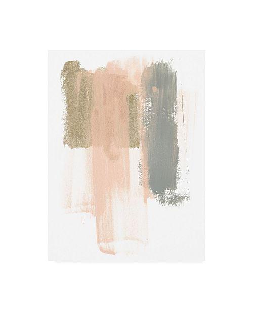 "Trademark Global June Erica Vess Blush Abstract IV Canvas Art - 19.5"" x 26"""