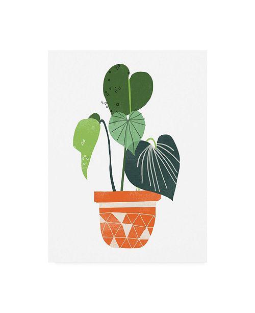 """Trademark Global June Erica Vess Happy Plants II Canvas Art - 19.5"""" x 26"""""""