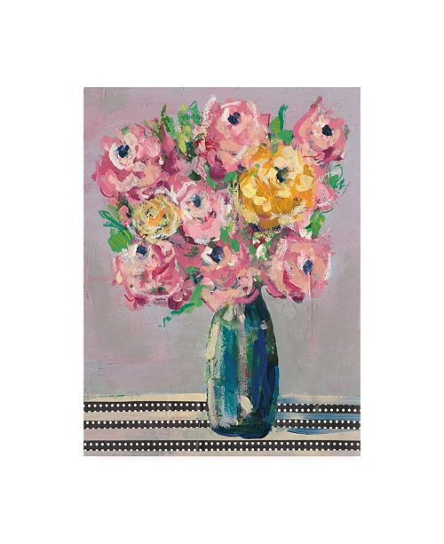 "Trademark Global Regina Moore Feisty Floral I Canvas Art - 19.5"" x 26"""