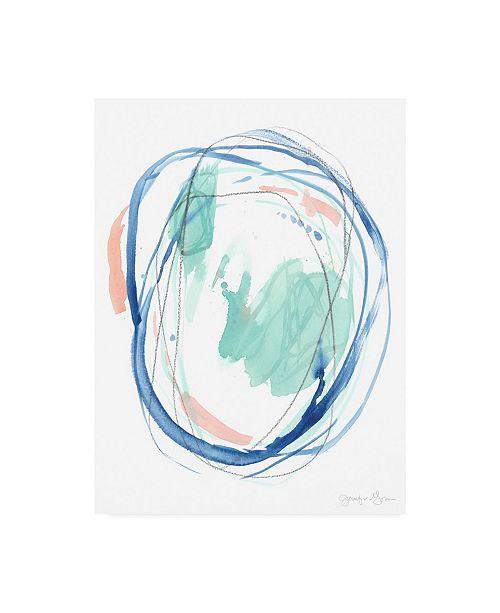 "Trademark Global Jennifer Goldberger Right Round I Canvas Art - 36.5"" x 48"""
