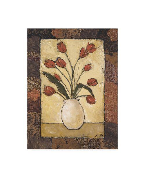 "Trademark Global Judi Bagnato Blooms in Border II Canvas Art - 19.5"" x 26"""