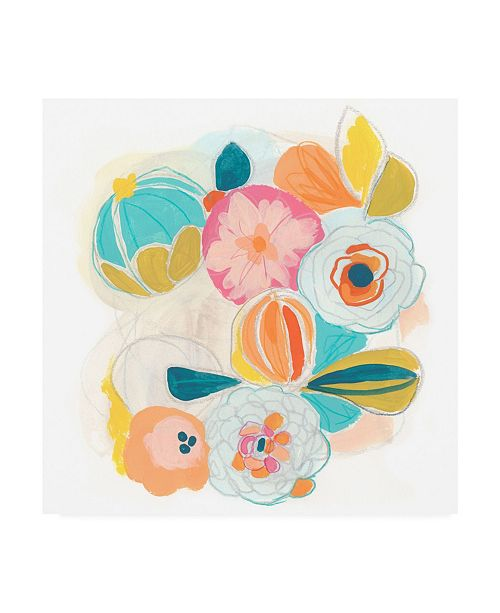 "Trademark Global June Erica Vess Floral Vibe I Canvas Art - 15.5"" x 21"""