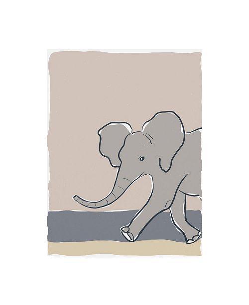 "Trademark Global Rob Delamater Pastel Zoo III Canvas Art - 36.5"" x 48"""