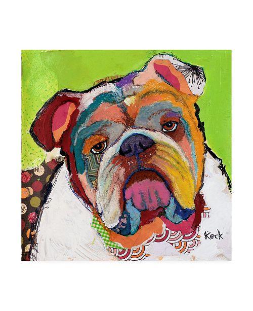 "Trademark Global Michel Keck American Bulldog Abstract Canvas Art - 36.5"" x 48"""