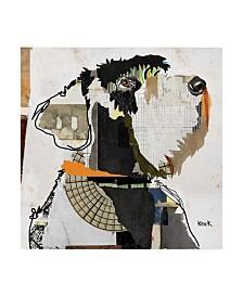 "Michel Keck Schnauzer Abstract Canvas Art - 36.5"" x 48"""
