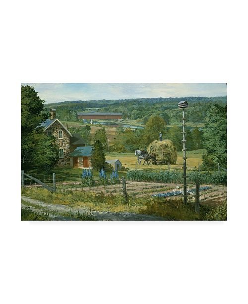 """Trademark Global Peter Snyder The Martin House Canvas Art - 36.5"""" x 48"""""""