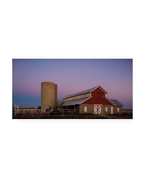 """Trademark Global Dan Ballard Silo and Barns Canvas Art - 27"""" x 33.5"""""""