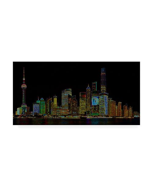 "Trademark Global Ellicia Amando Shanghai Glowing Canvas Art - 27"" x 33.5"""