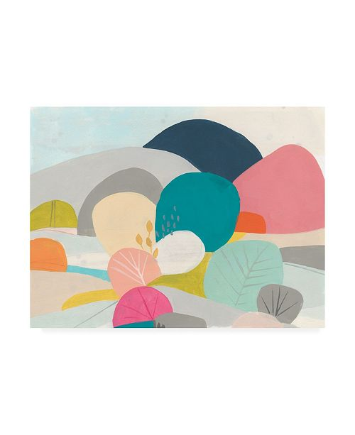 "Trademark Global June Erica Vess Meadow Whimsy II Canvas Art - 19.5"" x 26"""