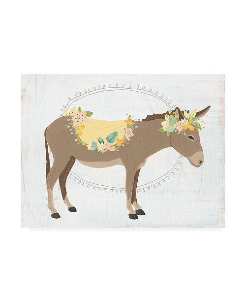 "Trademark Global June Erica Vess Dainty Burro II Canvas Art - 36.5"" x 48"""