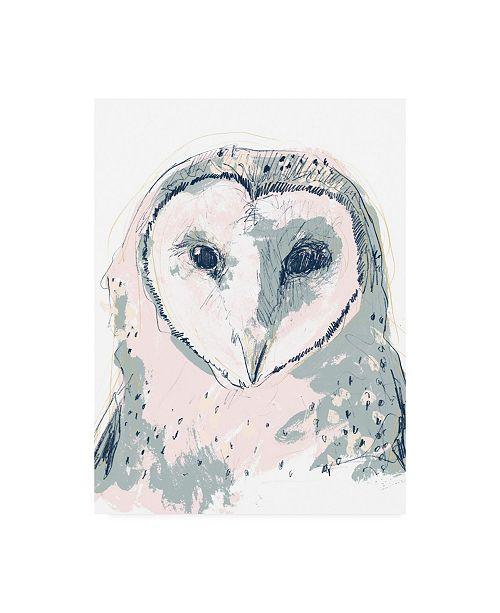 "Trademark Global June Erica Vess Funky Owl Portrait I Canvas Art - 36.5"" x 48"""