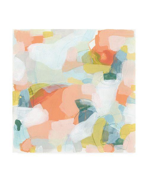 "Trademark Global June Erica Vess Mosaic Scatter I Canvas Art - 36.5"" x 48"""