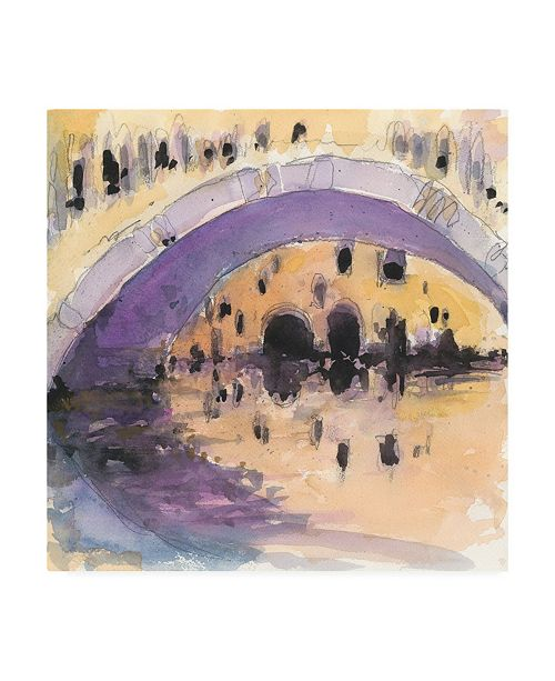 "Trademark Global Samuel Dixon Under the Bridge Gray Canvas Art - 15.5"" x 21"""