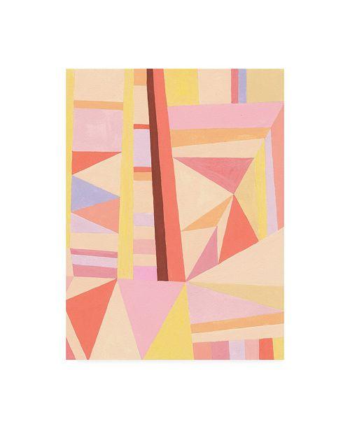 "Trademark Global Nikki Galapon Blush Structure II Canvas Art - 36.5"" x 48"""
