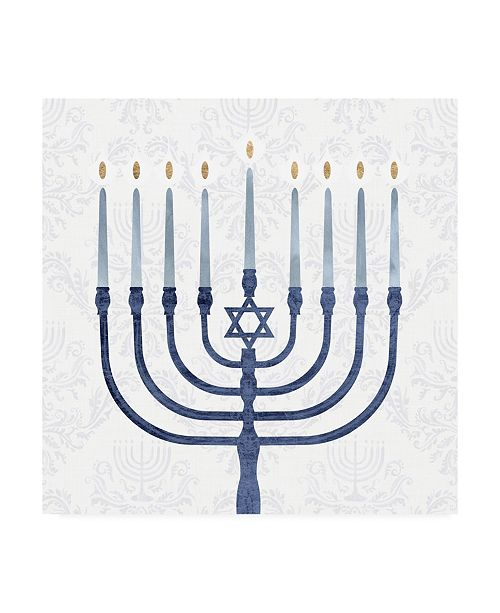 "Trademark Global Victoria Borges Sophisticated Hanukkah II Canvas Art - 15.5"" x 21"""