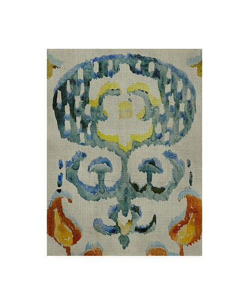 "Trademark Global Chariklia Zarris Bohemian Ikat I Canvas Art - 36.5"" x 48"""