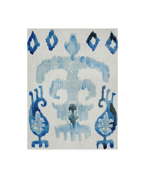 "Trademark Global Chariklia Zarris Sapphire Ikat III Canvas Art - 19.5"" x 26"""