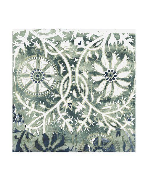 "Trademark Global June Erica Vess Flower Stone Tile VII Canvas Art - 15.5"" x 21"""