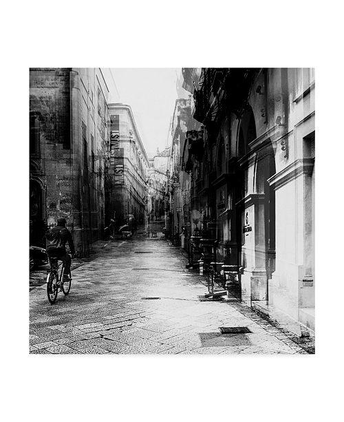 "Trademark Global Carmine Chiriaco Bicycle Tour Urban Canvas Art - 15"" x 20"""