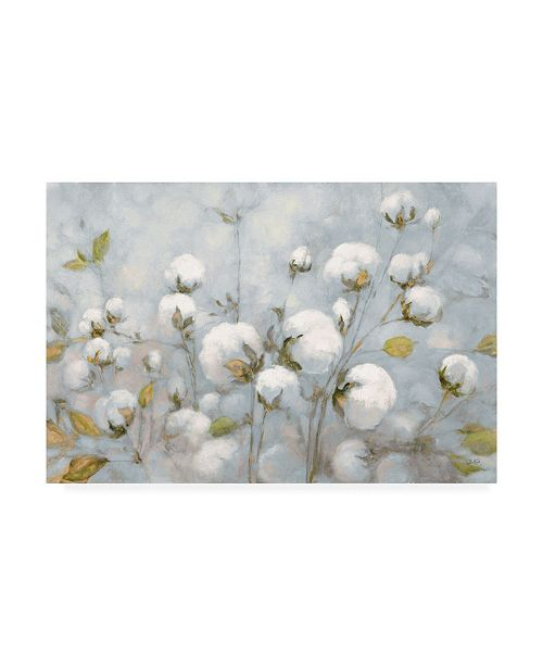 "Trademark Global Julia Purinton Cotton Field Blue Gray Canvas Art - 37"" x 49"""