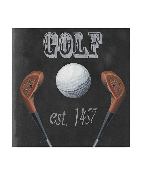 "Trademark Global Naomi Mccavitt Sporting History III Canvas Art - 15"" x 20"""