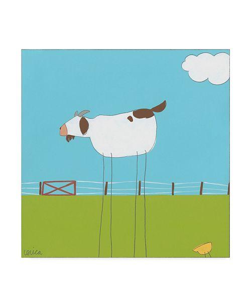 "Trademark Global June Erica Vess Stick Leg Goat II Canvas Art - 20"" x 25"""