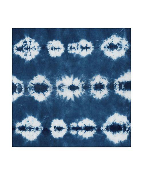 """Trademark Global Chariklia Zarris Indigo Tiles III Canvas Art - 15"""" x 20"""""""