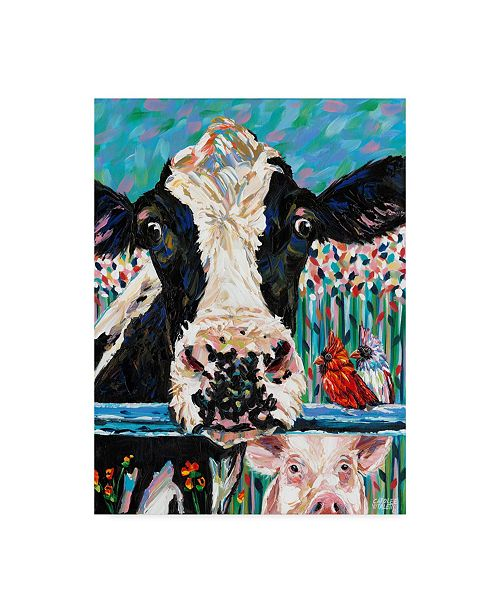 "Trademark Global Carolee Vitaletti Farm Buddies II Canvas Art - 20"" x 25"""