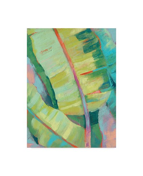 "Trademark Global Jennifer Goldberger Vibrant Palm Leaves I Canvas Art - 20"" x 25"""