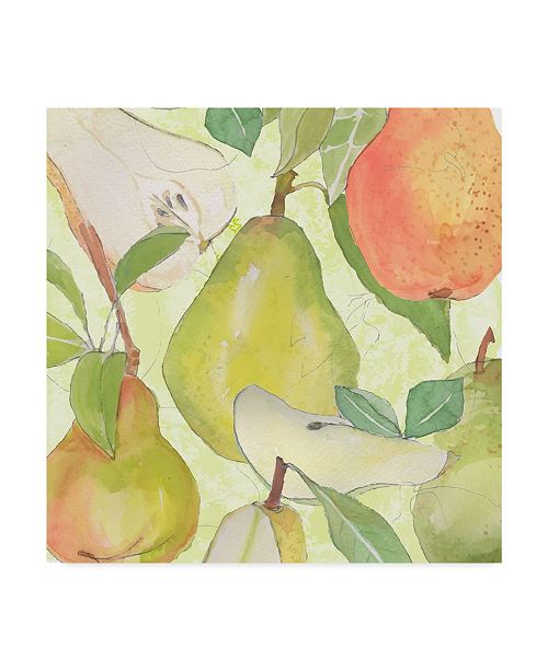 "Trademark Global Leslie Mark Pear Medley II Canvas Art - 20"" x 25"""