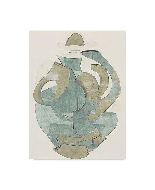 "Trademark Global Rob Delamater Abstract Vessel III Canvas Art - 20"" x 25"""