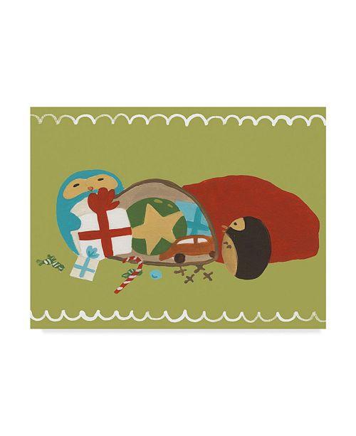 "Trademark Global June Erica Vess Happy Owlidays X Canvas Art - 20"" x 25"""