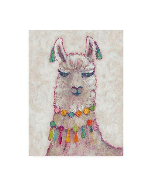 "Trademark Global Chariklia Zarris Festival Llama II Canvas Art - 20"" x 25"""