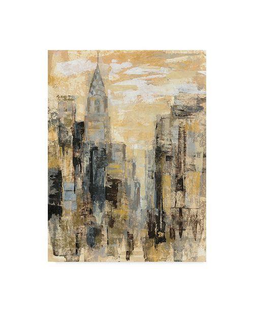 "Trademark Global Silvia Vassileva Manhattan Gray and Gold I Canvas Art - 15"" x 20"""