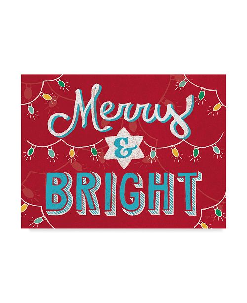 "Trademark Global Mary Urban Merry and Bright V2 Canvas Art - 20"" x 25"""