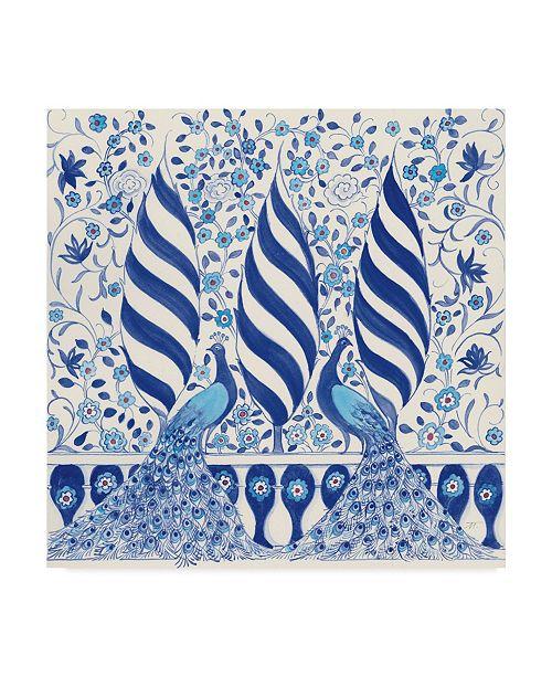 """Trademark Global Miranda Thomas Peacock Garden V Canvas Art - 20"""" x 25"""""""