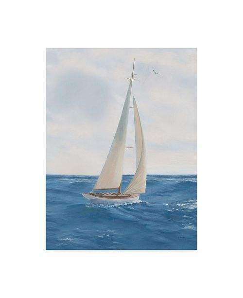 """Trademark Global James Wiens A Day at Sea I Canvas Art - 15"""" x 20"""""""