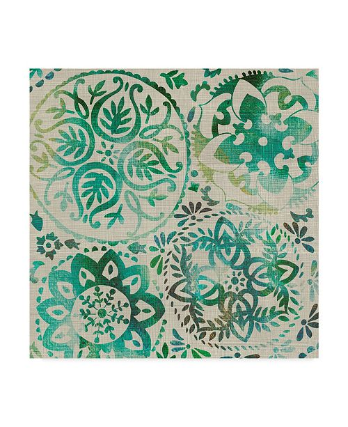 "Trademark Global Chariklia Zarris Moss Medallions I Canvas Art - 15"" x 20"""