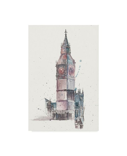 "Trademark Global Melissa Wang View of Eiffel IV Canvas Art - 20"" x 25"""