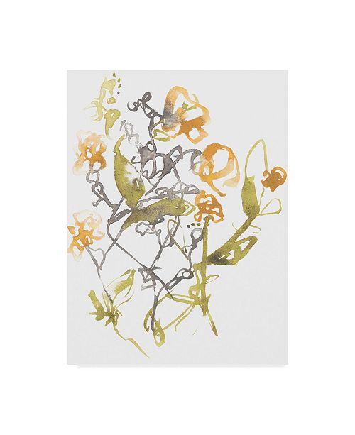 "Trademark Global Jennifer Goldberger Yellow & Grey Array I Canvas Art - 20"" x 25"""